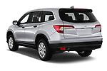 Car pictures of rear three quarter view of a 2020 Honda Pilot LX 5 Door SUV angular rear