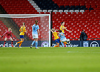 1st November 2020; Wembley Stadium, London, England; Womens FA Cup Final Football, Everton Womens versus Manchester City Womens; Georgia Stanway of Manchester City Women shoots and scores her sides 2nd goal in 2nd half of Extra Time to make it 1-2
