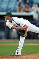 """University of South Florida Jimmy Moran #24 during a game vs. the Miami Hurricanes in the """"Florida Four"""" at George M. Steinbrenner Field in Tampa, Florida;  March 1, 2011.  USF defeated Miami 4-2.  Photo By Mike Janes/Four Seam Images"""