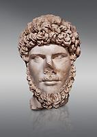 Roman statue of Emperor Lucius Verus .Marble. Perge. 2nd century AD. Inv no 2010/539 . Antalya Archaeology Museum; Turkey.