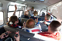 A group of USA fans take a minivan to the  2010 World Cup match at from The Radium Beer Hall to Melville inJohannaeburg.  The USA and Slovenia at Ellis Park Stadium in Johannesburg, South Africa on Friday, June 18, 2010.  The USA tied Slovenia 2-2.