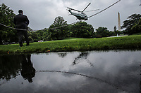 Marine One, with United States President Donald J. Trump aboard, departs from the South Lawn of the White House on June 11, 2020 in Washington, DC., for a trip to Dallas, Texas.<br /> Credit: Oliver Contreras / Pool via CNP/AdMedia