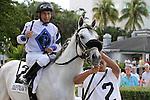 November 08, 2014:  Race 6.  #2 Mr. Jordan (FL) with jockey Paco Lopez on board wins the  wins  the Juvenile Sprint Stakes Black Type at Gulfstream Park West, in Miami Gardens, Florida..  Liz Lamont/ESW/CSM