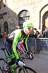 Ryder Hesjedal (CAN) Team Cannondale-Garmin makes his way to sign on before the start of the 2015 Strade Bianche Eroica Pro cycle race 200km over the white gravel roads from San Gimignano to Siena, Tuscany, Italy. 7th March 2015<br /> Photo: Eoin Clarke www.newsfile.ie