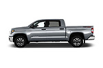 Car driver side profile view of a 2018 Toyota Tundra SR5 5.7L Crew Max 4WD Short Bed 4 Door Pick Up