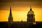 April 10, 2017; Dome and Basilica steeple (Photo by Matt Cashore/University of Notre Dame)
