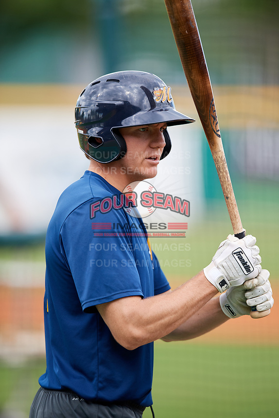 Montgomery Biscuits Michael Russell (12) during batting practice before a game against the Mississippi Braves on April 24, 2017 at Montgomery Riverwalk Stadium in Montgomery, Alabama.  Montgomery defeated Mississippi 3-2.  (Mike Janes/Four Seam Images)