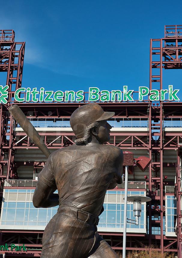 Mike Schmidt sculpture at Citizens Bank Park, Philadelphia, Pennsylvania, USA