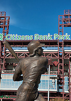 Mike Schmidt sculpture at Citizens Bank Park, Philadelphia, Pennsylvania, USA