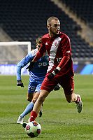 Chester, PA - Friday December 08, 2017: Jeremy Kelly, Andrew Gutman The Indiana Hoosiers defeated the North Carolina Tar Heels 1-0 during an NCAA Men's College Cup semifinal soccer match at Talen Energy Stadium.