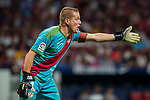 Goalkeeper Alberto Garcia Cabrera of Rayo Vallecano reacts during the La Liga 2018-19 match between Atletico de Madrid and Rayo Vallecano at Wanda Metropolitano on August 25 2018 in Madrid, Spain. Photo by Diego Souto / Power Sport Images