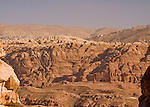 """Old and New"" -- The new town of Wadi Musa occupies the hills outside the Petra valley, where the Nabateans carved their tombs into the rock walls.  © Rick Collier"