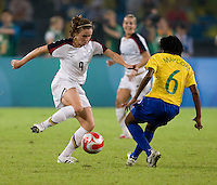 Heather O'Reilly, Maycon. The USWNT defeated Brazil, 1-0, to win the gold medal during the 2008 Beijing Olympics at Workers' Stadium in Beijing, China.