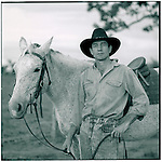 JULY 1995    -  ROCKHAMPTON, Australia   -   John Rott Cattleman with one of his horses. John has over a  1000 acre cattleranch with an airstrip and two houses. Rockhampton is the Beef capital of Australia. ..