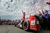 2017 Verizon IndyCar Series - Firestone Grand Prix of St. Petersburg<br /> St. Petersburg, FL USA<br /> Sunday 12 March 2017<br /> Sebastien Bourdais celebrates his victory<br /> World Copyright: Scott R LePage/LAT Images