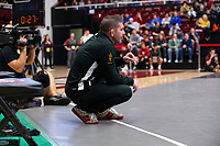 STANFORD, CA - March 7, 2020: Assistant Coach Lee Pritts of Arizona State University during the 2020 Pac-12 Wrestling Championships at Maples Pavilion.