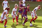 Liga IBERDROLA 2020-2021. Jornada: 12<br /> FC Barcelona vs Sevilla: 6-0.<br /> Jennifer Hermoso vs Lucia Ramirez.
