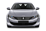 Car photography straight front view of a 2018 Peugeot 508 Allure 5 Door Hatchback Front View