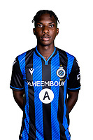 20th August 2020, Brugge, Belgium;  Wilkims Ochieng pictured during the team photo shoot of Club Brugge NXT prior the Proximus league football season 2020 - 2021 at the Belfius Base camp