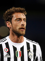 Calcio, Serie A:  Bologna vs Juventus. Bologna, stadio Renato Dall'Ara, 19 febbraio 2016. <br /> Juventus' Claudio Marchisio during the Italian Serie A football match between Bologna and Juventus at Bologna's Renato Dall'Ara stadium, 19 February 2016.<br /> UPDATE IMAGES PRESS/Isabella Bonotto