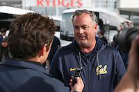 SYDNEY, AUSTRALIA - August 22, 2016:  Cal Bears Football team Australia trip. Cal Football arrives in Sydney.