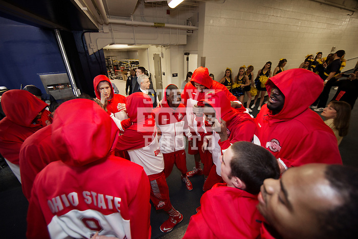 team in the tunnel