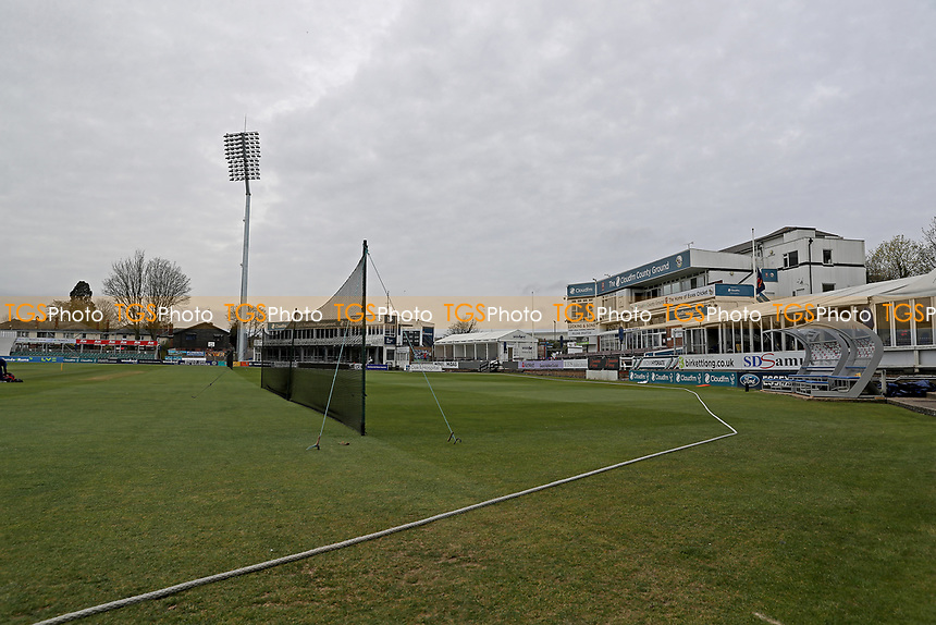 General view of the ground prior to the start of play at Essex CCC vs Worcestershire CCC, LV Insurance County Championship Group 1 Cricket at The Cloudfm County Ground on 10th April 2021