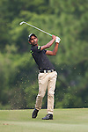 Rashid Khan from India hits the ball during Hong Kong Open golf tournament at the Fanling golf course on 22 October 2015 in Hong Kong, China. Photo by Xaume Olleros / Power Sport Images
