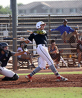 Bobby Blandford of the Adispeed Elite 18U team participates in a Pathway Arizona 2020 tournament game at the San Diego Padres complex on September 21, 2020 in Peoria, Arizona (Bill Mitchell)