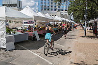 The downtown Austin Farmers' Market is open every Saturday with an array of organic farm vendors, live music & activities.