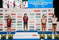 (L to R) SALIN Giulia silver, CARAMIGNOLI Martina Gold, EGOROVA Anna RUS bronze, ROMEI Giorgia bronze<br /> 800 Freestyle Women  podium<br /> Roma 12/08/2020 Foro Italico <br /> FIN 57 Trofeo Sette Colli - Campionati Assoluti 2020 Internazionali d'Italia<br /> Photo Giorgio Scala/DBM/Insidefoto