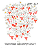 Kate, WEDDING, HOCHZEIT, BODA, valentine, Valentin, paintings+++++Hearts tree 1,GBKM323,#W#,#V#, EVERYDAY ,valentine,hearts