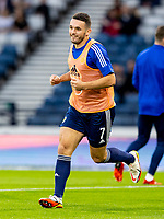 4th September 2021; Hampden Park, Glasgow, Scotland: FIFA World Cup 2022 qualification football, Scotland versus Moldova: John McGinn of Scotland warms up before kick off