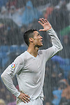 Cristiano Ronaldo of Real Madrid reacts under the rain during the La Liga match between Real Madrid and Real Sporting de Gijon at the Santiago Bernabeu Stadium on 26 November 2016 in Madrid, Spain. Photo by Diego Gonzalez Souto / Power Sport Images