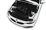 Car stock 2018 BMW 4 Series Gran Coupe 2wd 430i 5 Door Hatchback engine high angle detail view