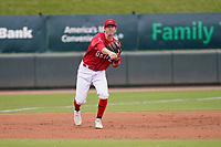 Third baseman Nick Sogard (11) of the Greenville Drive during a game against the Brooklyn Cyclones on Friday, May 14, 2021, at Fluor Field at the West End in Greenville, South Carolina. (Tom Priddy/Four Seam Images)