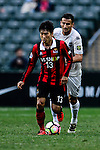 FC Seoul Midfielder Go Yo Han (l) is chased by Auckland City Midfielder Mario Bilen (r) during the 2017 Lunar New Year Cup match between Auckland City FC (NZL) vs FC Seoul (KOR) on January 28, 2017 in Hong Kong, Hong Kong. Photo by Marcio Rodrigo Machado/Power Sport Images