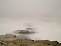 Beavertail Rocks during Tropical Storm Irene