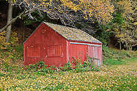 Colorful farm building, Vermont, VT, USA