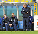 24/10/2009  Copyright  Pic : James Stewart.sct_jspa05_kilmarnock_st_johnstone  . :: JIM JEFFIRES AND AN UNHAPPY LOOKING KILMARNOCK BENCH :: .James Stewart Photography 19 Carronlea Drive, Falkirk. FK2 8DN      Vat Reg No. 607 6932 25.Telephone      : +44 (0)1324 570291 .Mobile              : +44 (0)7721 416997.E-mail  :  jim@jspa.co.uk.If you require further information then contact Jim Stewart on any of the numbers above.........