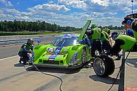 17-19  July, 2009, Birmingham, Alabama USA.The #76 Krohn Racing Ford/Lola of Ricardo Zonta & Nic Johnson makes a pit stop..©2009 F.Peirce Williams, USA.