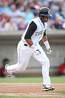 August 5, 2009: Tyler Ladendorf of the Kane County Cougars. The Cougars are the Midwest League affiliate for the Oakland Athletics. Photo by: Chris Proctor/Four Seam Images