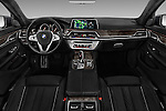 Stock photo of straight dashboard view of 2017 BMW 7 Series 740i 4 Door Sedan Dashboard