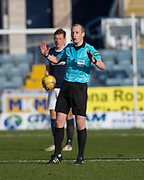 13th March 2021; Dens Park, Dundee, Scotland; Scottish Championship Football, Dundee FC versus Arbroath; Referee Willie Collum gives his view