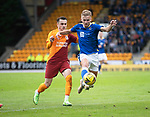 St Johnstone v Galatasaray…12.08.21  McDiarmid Park Europa League Qualifier<br />Ali McCann and Kerem Akturkoglu<br />Picture by Graeme Hart.<br />Copyright Perthshire Picture Agency<br />Tel: 01738 623350  Mobile: 07990 594431