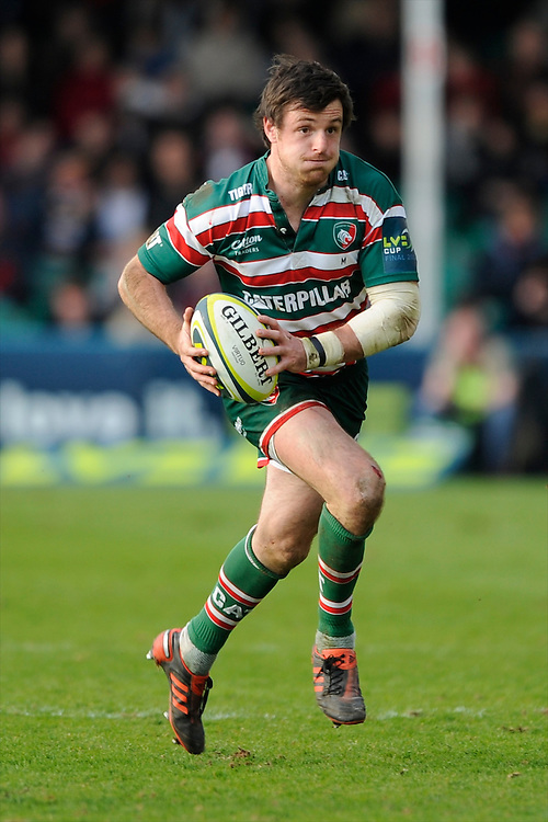 Matt Smith of Leicester Tigers in action during the LV= Cup Final match between Leicester Tigers and Northampton Saints at Sixways Stadium, Worcester on Sunday 18 March 2012 (Photo by Rob Munro, Fotosports International)