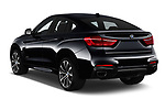 Car pictures of rear three quarter view of a 2019 BMW X6 35i 5 Door SUV angular rear