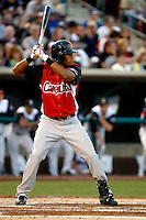 Pedro Florimon  ---  At the annual California League-Carolina League all-star game at the Diamond in Lake Elsinore, CA - 06/23/2009. The game was won by the California League, 2-1, on a walk-off homerun by Lancaster's Jon Gaston..Photo by:  Bill Mitchell/Four Seam Images