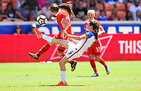 Houston, TX - April 9, 2017: The U.S. Women's national team go up 1-0 over Russia in an international friendly match at BBVA Compass Stadium.
