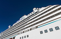 Crystal Serenity cruise ship detail.